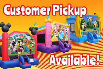 Customer Pickup, Bouncing On Air LLC   Buffalo, New York